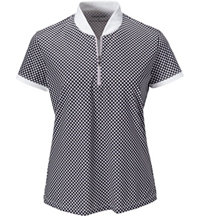 Women's Gingham Short Sleeve Mock