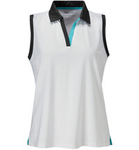 Women's Y-Neck Sleeveless Polo