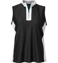 Women's Zip Sleeveless Mock