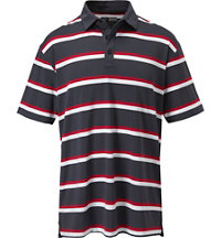 Men's Auto Striped Short Sleeve Polo