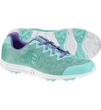 Women's EnJoy Engineered Mesh All Over Spikeless Golf Shoes - Sea Foam (FJ#95701)