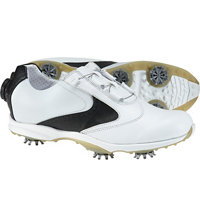 Women's EmBody U-Throat Saddle w/ BOA Spiked Golf Shoes - Wht/Blk (FJ# 96104)