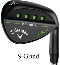 MD3 Milled Black Wedge