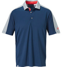 Men's Pique Geo Block Short Sleeve Polo