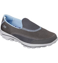 Women's Go Walk 2 Putt Spikeless Golf Shoes - Charcoal/Blue (#13639)