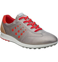 Women's Street Evo One Sport Spikeless Golf Shoes - Gray/Red (#12063359023)