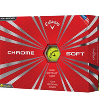 Chrome Soft Yellow Golf Balls