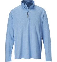 Men's Essential Solid Quarter-Zip Pullover