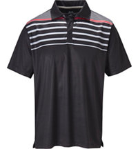 Men's Chest Stripe Short Sleeve Polo