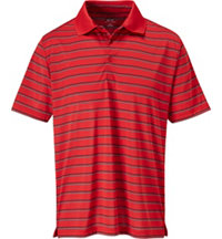 Men's Stripe Jersey Short Sleeve Polo