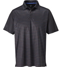 Men's Front Panel Stripe Short Sleeve Polo