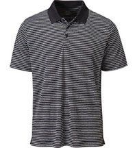 Men's Essential Heathered Stripe Short Sleeve Polo
