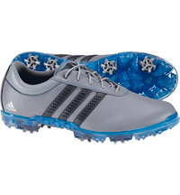 Men's Adipure Flex Spiked Golf Shoes - Gray/Dark Gray/Shock Blue