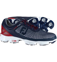 Men's Hyperflex Spiked Golf Shoes - Nav/Sil/Red (FJ# 51017)