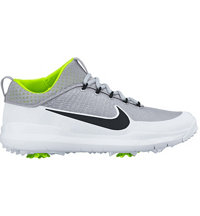 Men's Nike FI Premiere Spiked Golf Shoes - Silver/Black/White/Volt