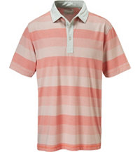 Men's Innosoft Blocked Stripe Short Sleeve Polo