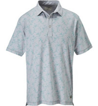 Men's Vine Print Short Sleeve Polo
