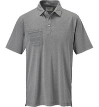 Men's Heathered Printed Pocket Short Sleeve Polo