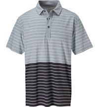 Men's Innosoft Colorblock Stripe Short Sleeve Polo
