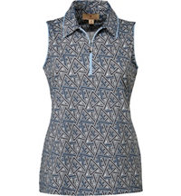 Women's Miley Print Sleeveless Polo