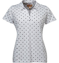 Women's Siri Polka Dot Short Sleeve Polo