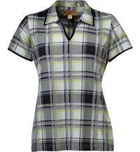 Women's Adi Plaid Short Sleeve Polo