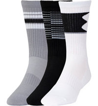 Men's UA Phenom 3-Pack Crew Socks