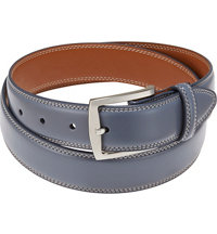 Men's Harness Buckle Contrast Stitch Belt