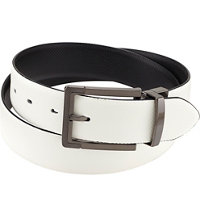 Men's Polished Gun Metal Reversible Belt