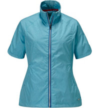 Women's Brittany Dot Embossed Short Sleeve Wind Jacket