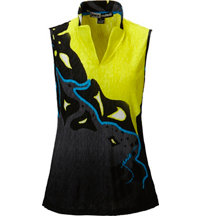 Women's Lava Lamp Crunch Print Sleeveless Mock