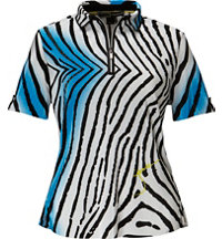 Women's Tiger Fish Print Short Sleeve Polo