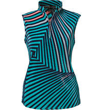 Women's Twister Print Crunch Sleeveless Mock