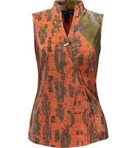 Women's Morning Star Print Sleeveless Mock
