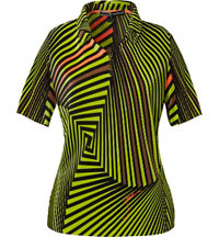 Women's Twister Print Short Sleeve Polo