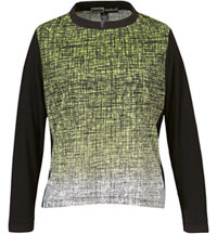 Women's Sumi Print Long Sleeve Sweater