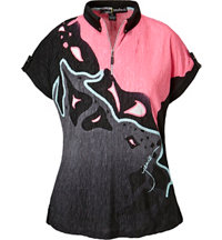 Women's Lava Print Crunch Short Sleeve Polo
