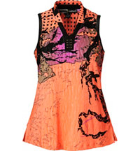 Women's Shanghai Crunch Print Sleeveless Mock