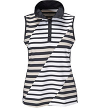 Women's Cici Stripe Sleeveless Polo