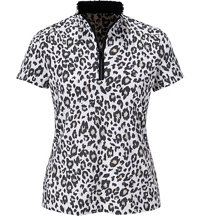 Women's Sylvie Cheetah Short Sleeve Mock