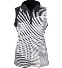 Women's Cici Print Sleeveless Polo