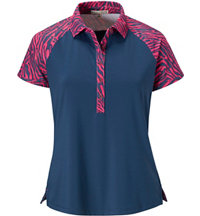 Women's Nora Print Short Sleeve Polo