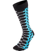 Men's Zipper Print Crew Socks