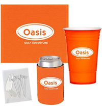 Logo Towel Cup Golf Kit