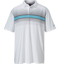 Men's Chest Striped Short Sleeve Polo