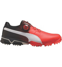 Men's Titantour Ignite Disc Limited Edition Spiked Golf Shoe - Red Blast/Puma White/Puma Black