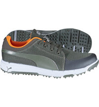 Men's Grip Sport Spiked Golf Shoes - Forest Night/Vibrant Orange