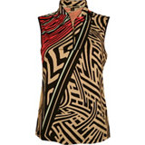 Women's Print Sleeveless Polo