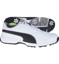 Men's Ignite Drive Spiked Golf Shoes - Puma White/Puma Black/Drizzle
