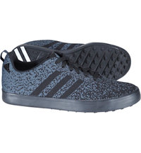 Men's Adicross Primeknit Spikeless Golf Shoes - BLK/WHT/BLK